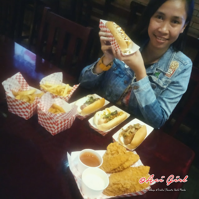 pinoy hotdogs at Resorts World Manila
