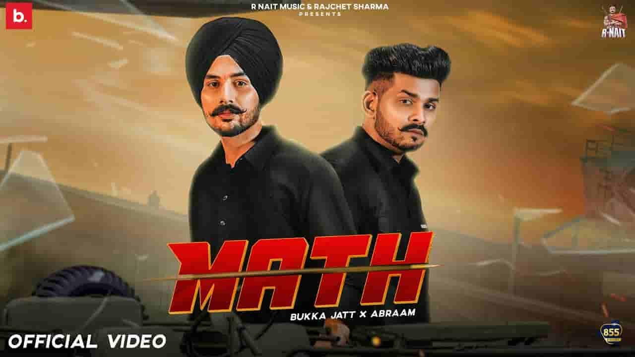 मैथ Math lyrics in Hindi Bukka Jatt x Abraam Punjabi Song