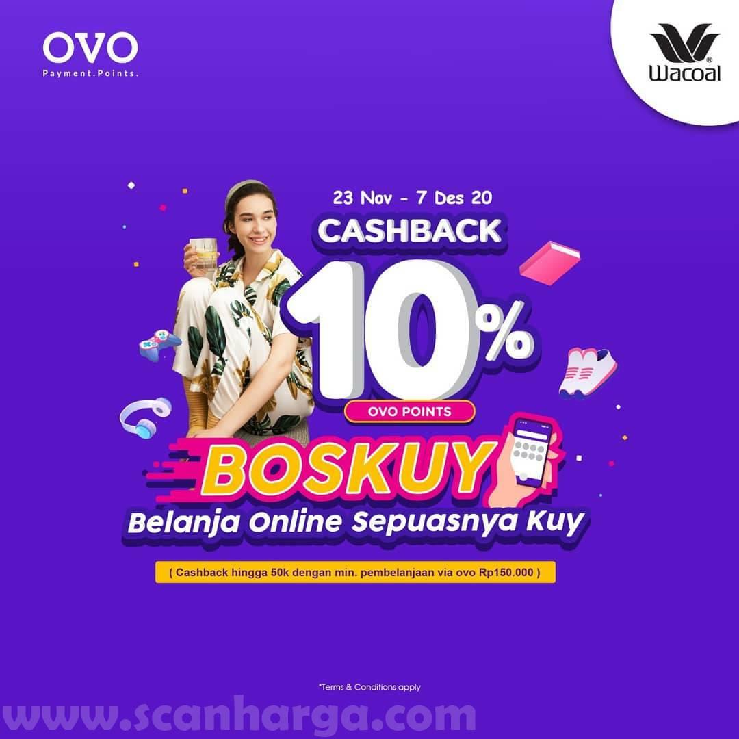 Promo Wacoal Terbaru Cashback Rp 50.000 dengan OVO Point