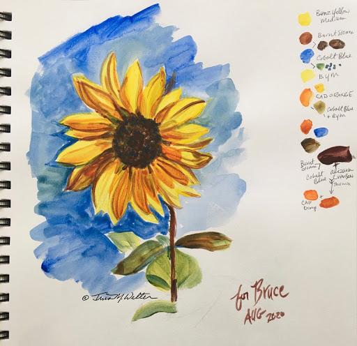 Sunflower Sketch ©2020 Tina M.Welter