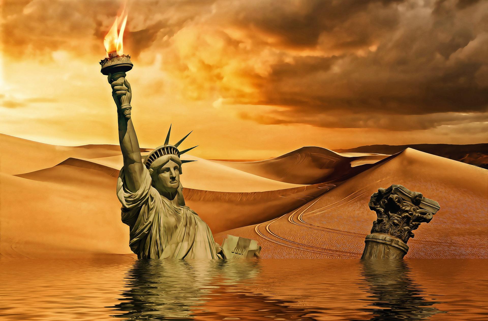 صورة تشبيهية لدمار العالم