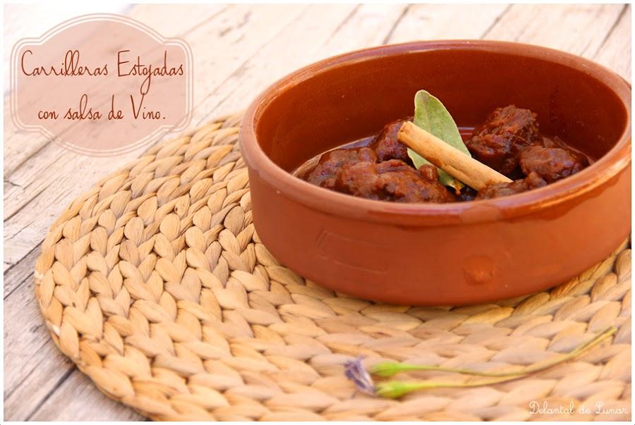 Foto; Carrilleras estofadas con salsa de vino.