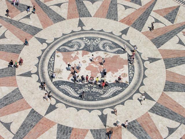 Lizbona, Lisbon, Belem, mozaika przed Torre de Belem