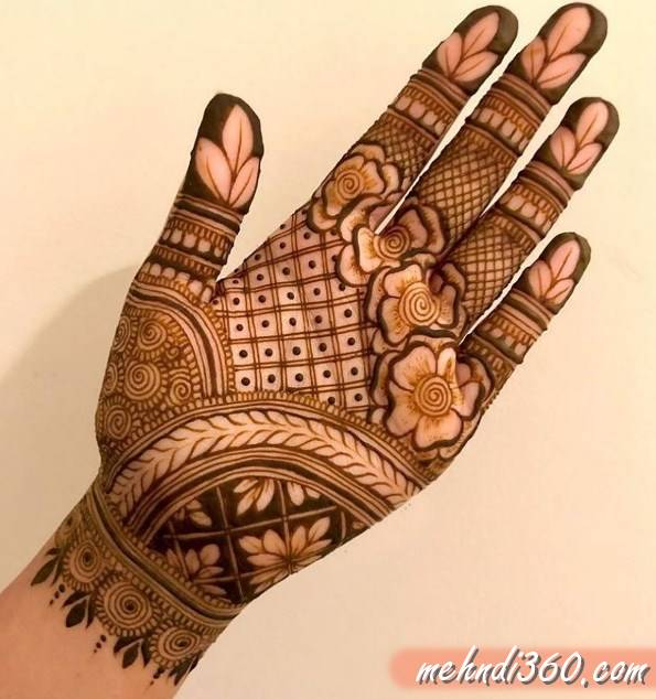 Arabic Wedding Mehndi Design Front