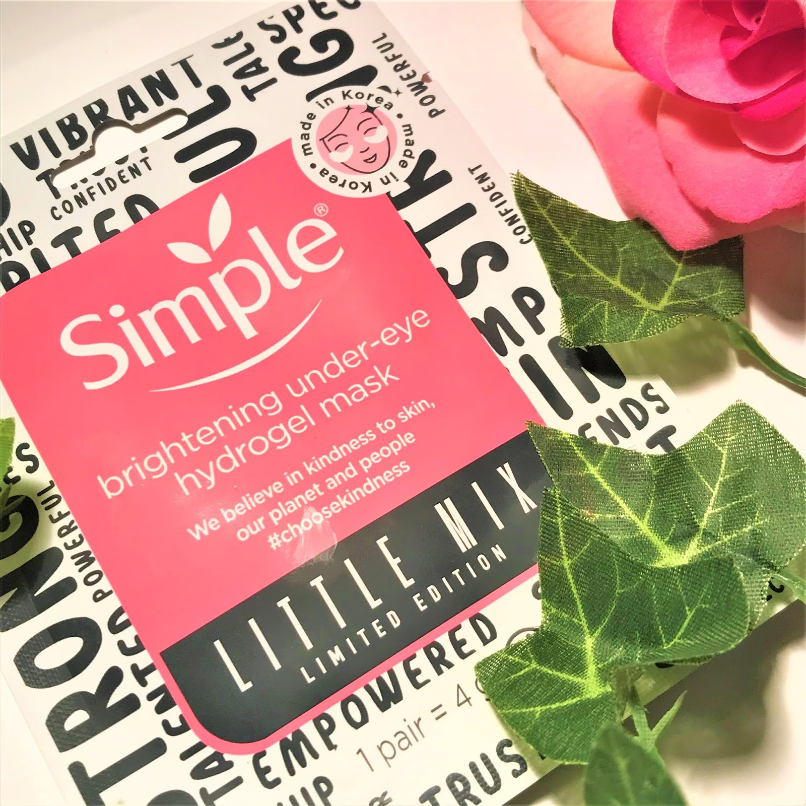 Simple x Little Mix Under-Eye Hydrogel Mask
