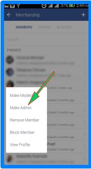how to admin to facebook group