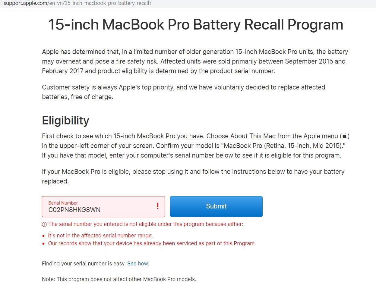 Nhưng lưu ý hành khách cần biết khi mang Macbook Pro 15 inch lên máy bay