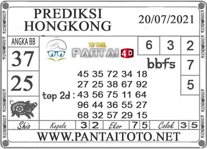 PREDIKSI TOGEL HONGKONG PANTAI4D 20 JULI 2021