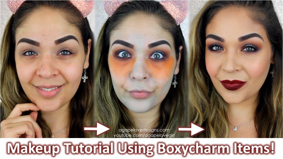 Full Face Makeup Tutorial Using Boxycharm Makeup