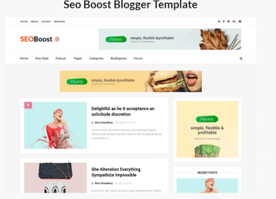 SEO Boost Blogger Template Download