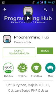 Aplikasi Android Belajar Bahasa Pemrograman melalui Android2