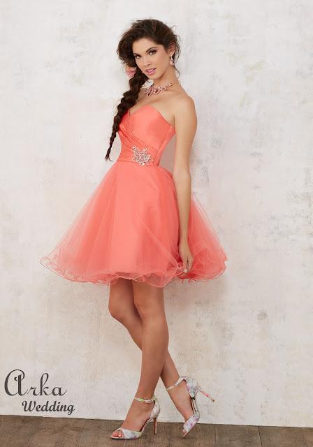 cda6bfab336d ΝΥΦΙΚΑ ARKAWEDDING  Φόρεμα Νεανικό