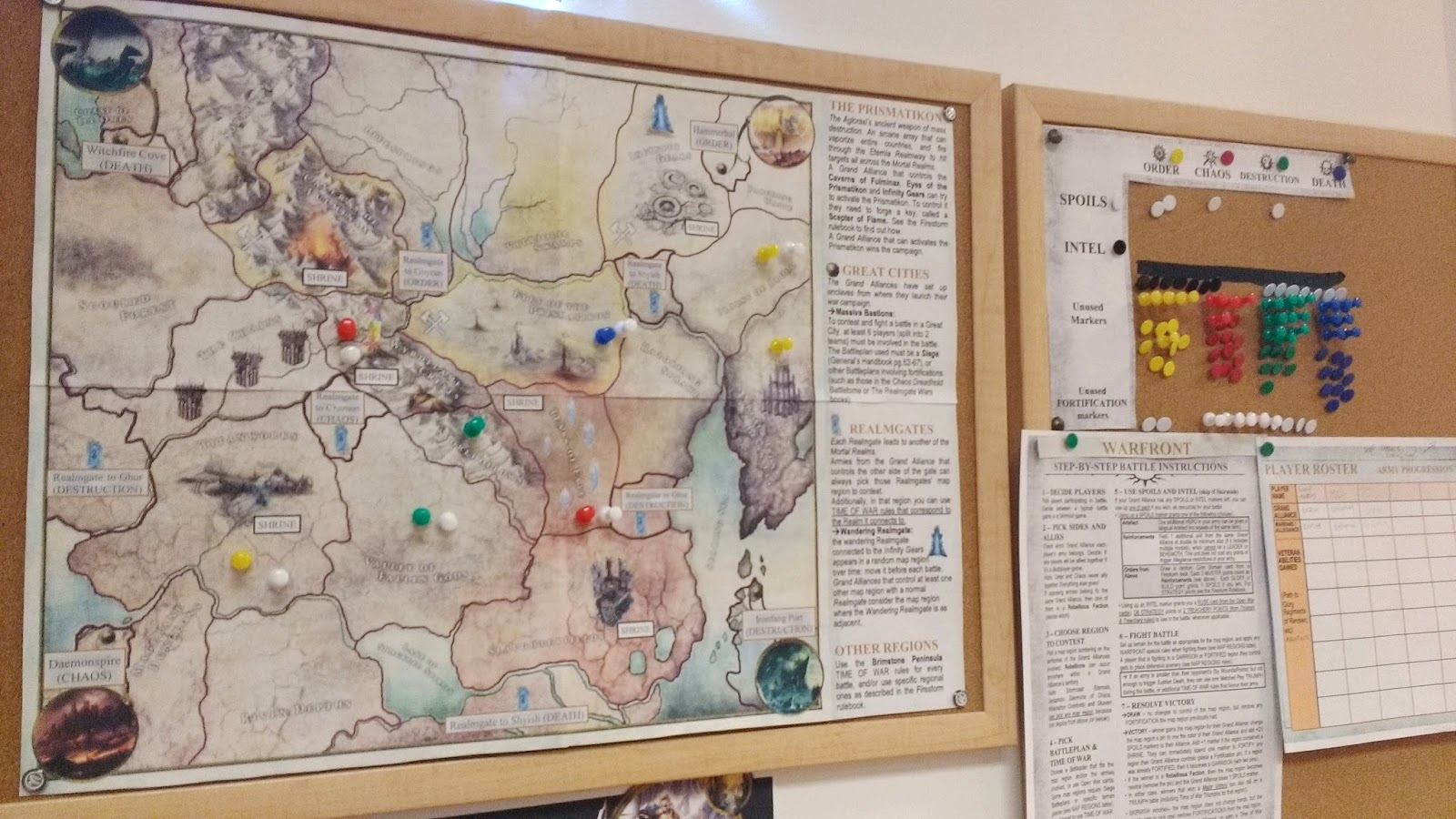 fortified and garrisoned map regions as they are developed by winning players are further marked with extra white transparent pins these are places with