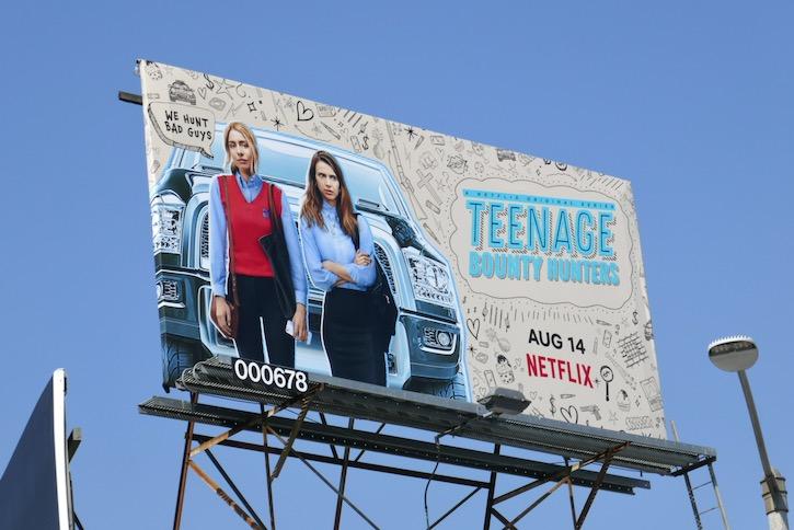 Teenage Bounty Hunters Netflix billboard