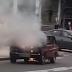 В Солом'янському районі на ходу загорівся автомобіль