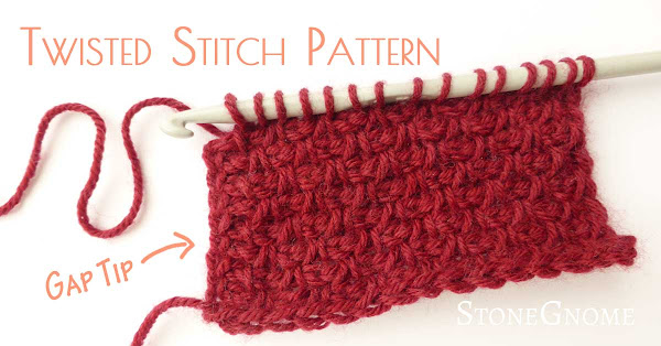 Twisted Stitch Pattern