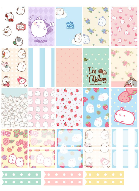 Counting Sheepy: Free Planner Printables - Molang Stickers
