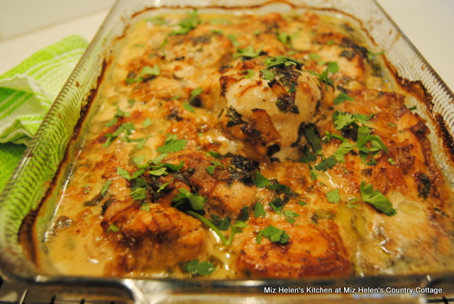 Creamy Cilantro Lime Chicken at Miz Helen's Country Cottage