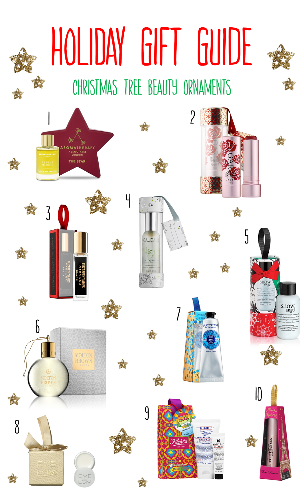 Holiday Gift Guide | Christmas Tree Beauty Ornaments