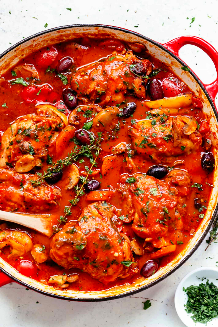 The Best Chicken Cacciatore