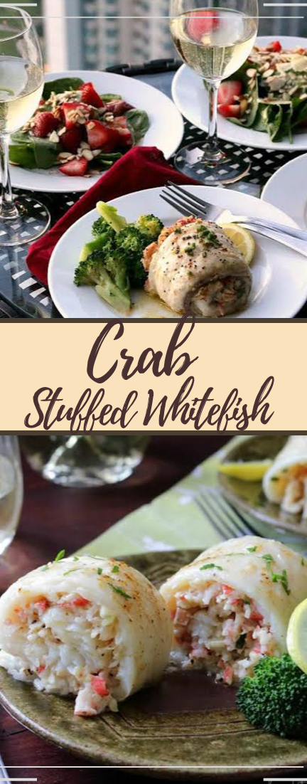 Crab Stuffed Whitefish #healthyfood #dietketo #breakfast #food