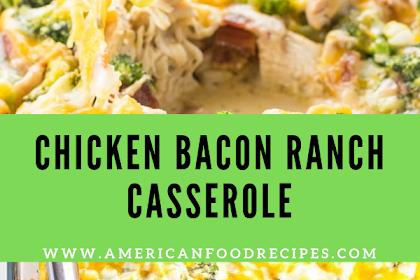 CHICKEN BACON RANCH CASSEROLE RECIPE (QUICK & EASY) - 2 WAYS