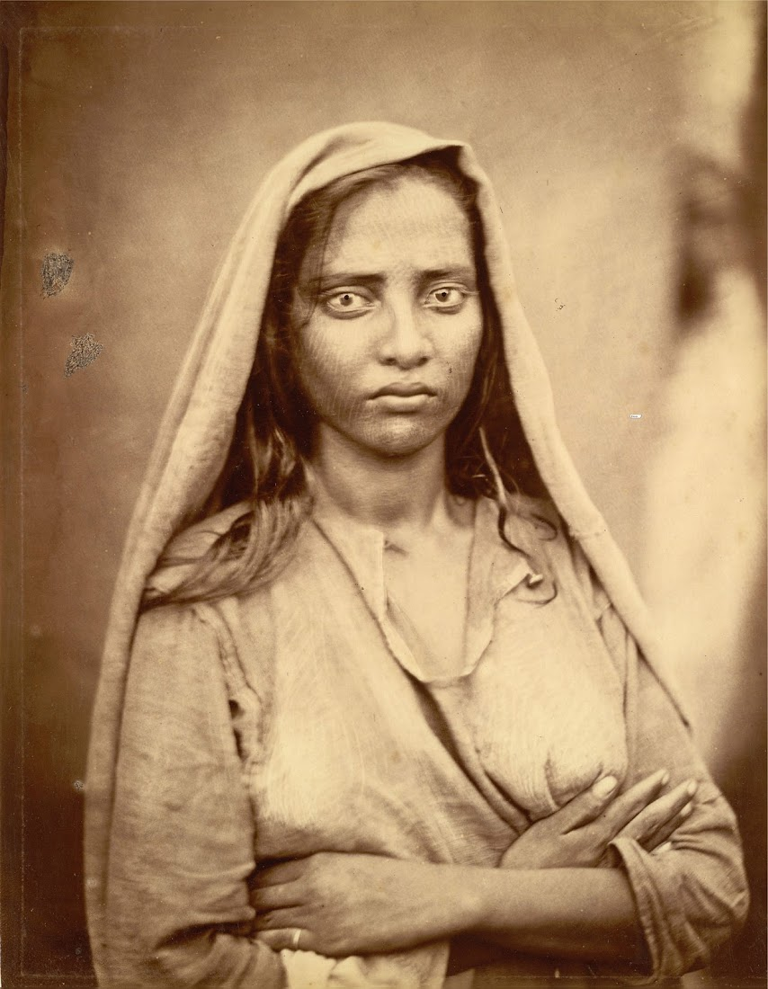 Portrait of a Woman, Standing with Folded Arms - Eastern Bengal, c1860