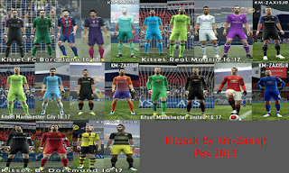 Kitpack 2016-2017 Pes 2013 By Zaxis JR