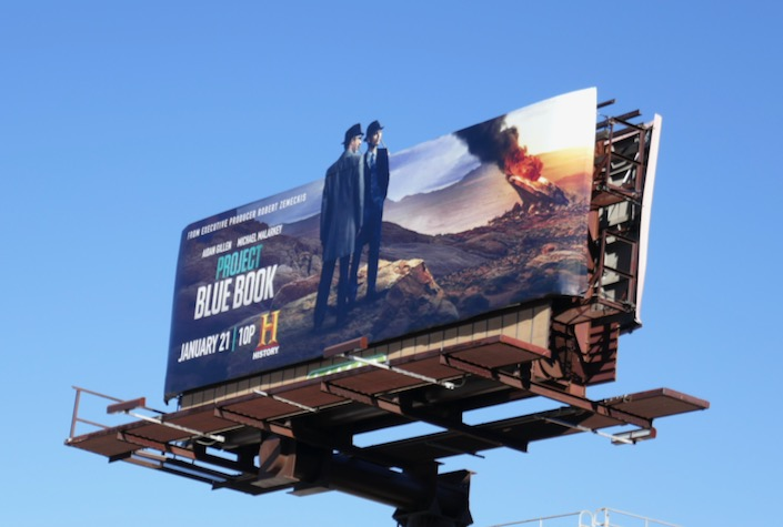 Project Blue Book season 2 cutout billboard