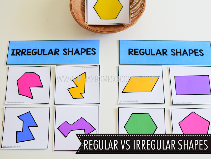 Kindergarten Math Shapes - Regular VS Irregular Shapes Activity