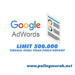 JUAL AKUN ADWORD LIMIT 500.000