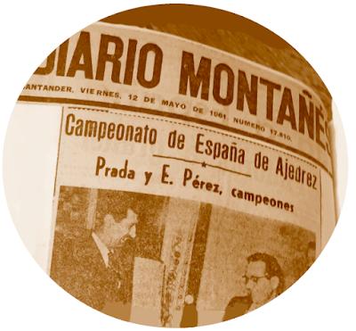 Prada y E. Pérez, campeones del  Campeonato de España Individual de Ajedrez (Santander 1961)