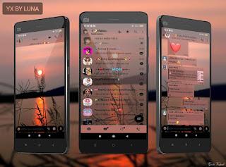 Night Mod Theme For YOWhatsApp & Yx WhatsApp By Luna