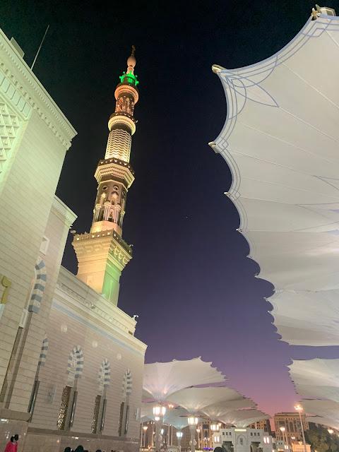 masjid nabawi malam hari