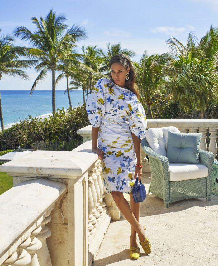Joan Smalls chic fashion editorial for Harper's Bazaar US by Mariano Vivanco