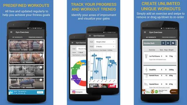 تطبيق Gym Exercises & Workouts
