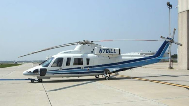 Image Attribute: Kobe Bryant's S-76B helicopter was built in 1991 and previously flew as N761LL before becoming N72EX.