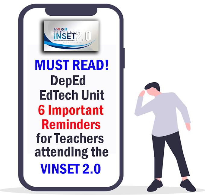 DepEd EdTech Unit: 6 Important Reminders for Teachers attending VINSET 2.0