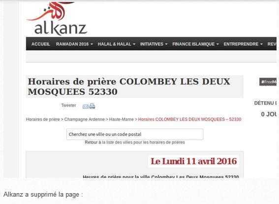 Colombey-les-Deux-Eglises rebaptisée Colombey-les-Deux-Mosquées (Alkanz supprime la page) dans Culture colombey%2Bles%2Bdeux%2Beglises