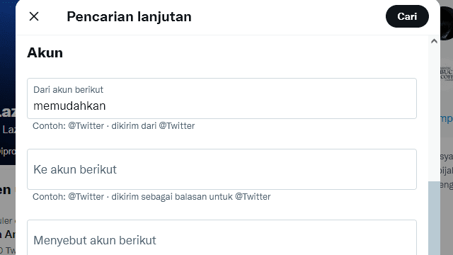 Advanced search Twitter