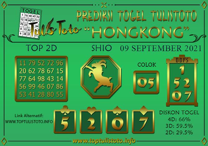 Prediksi Togel HONGKONG TULISTOTO 09 SEPTEMBER 2021