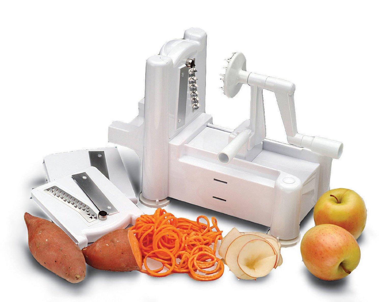 Paderno world cuisine a4982799 tri blade plastic spiral - Paderno world cuisine spiral vegetable slicer ...