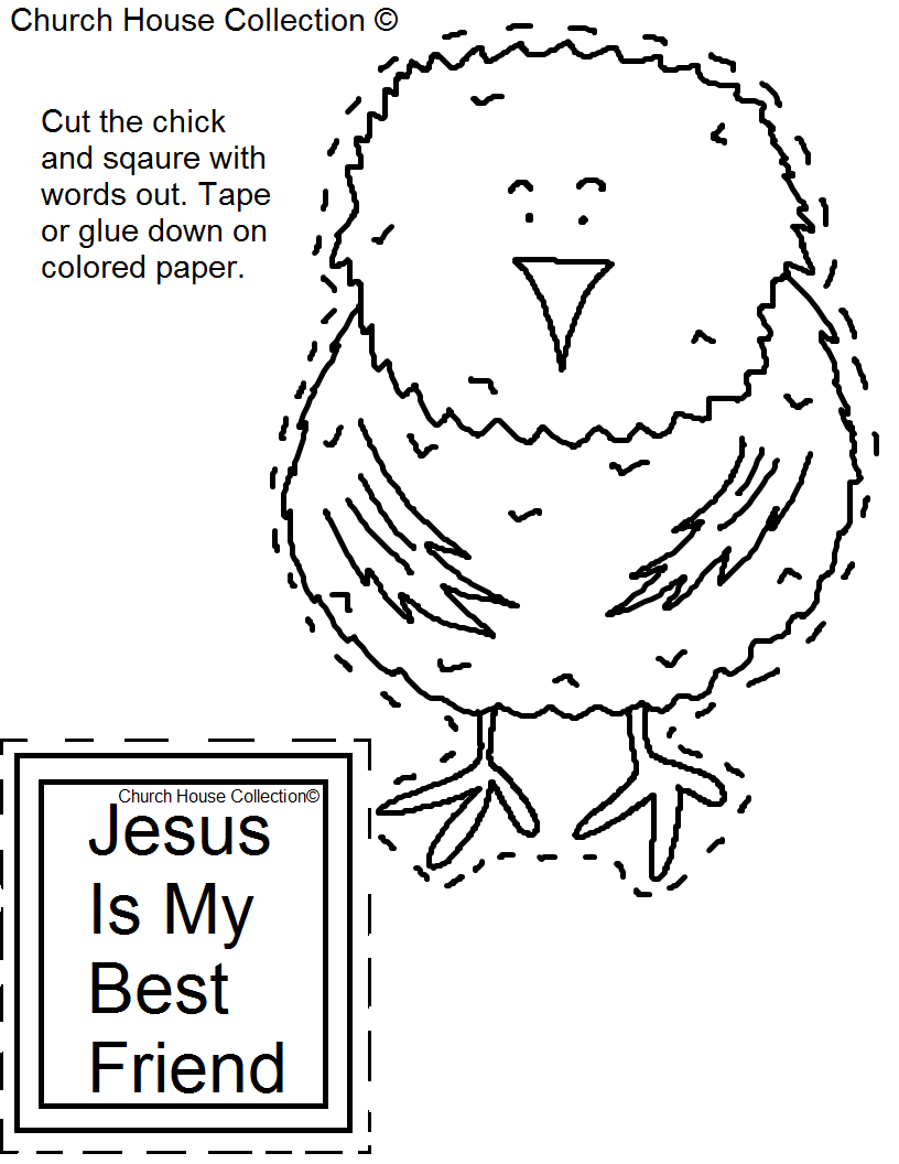 Church House Collection Blog: Easter Chick Cutout Craft
