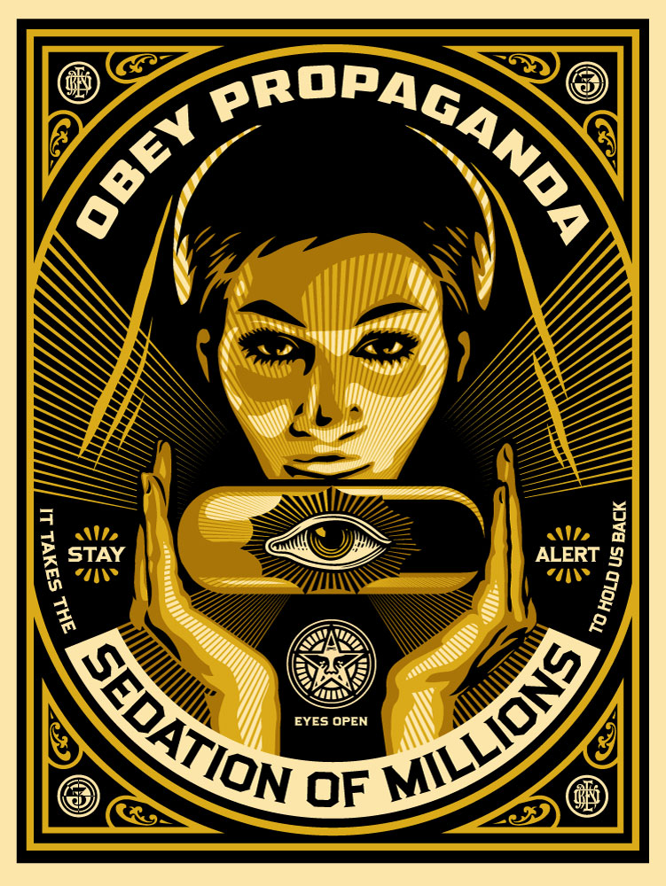 "The Blot Says...: Obey Giant ""Sedation Pill"" Screen Print ...