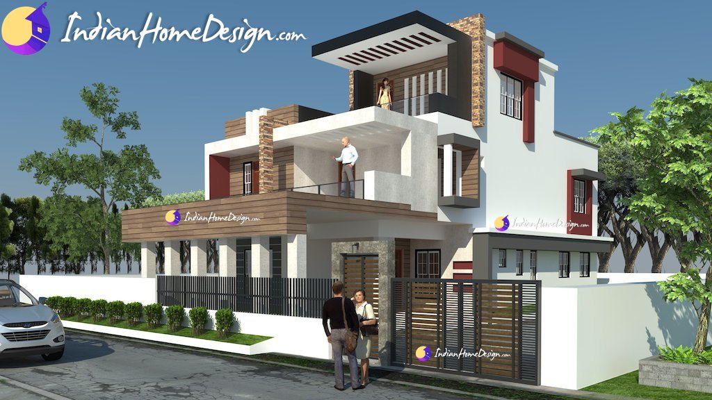 contemporary home design, Exterior design, attractive indian house photos,