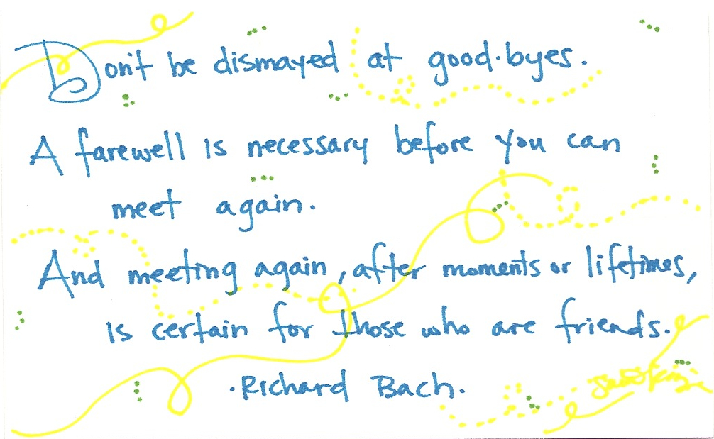 Farewell Quotes Friend Leaving Work