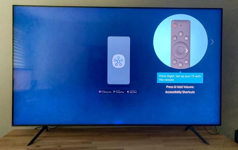cara setting smart tv samsung