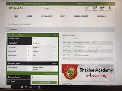 website shaklee yang baru