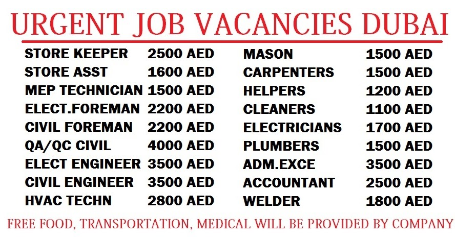 Jobs in Dubai - Apply to latest jobs and vacancies in Dubai by top employers and recruitment agencies. Register Free for Dubai Jobs & post your CV now! There is no dearth of jobs in Dubai, the land of opportunities. However, finding a job might come How to Look for a Job in Dubai When You are on a Visit Visa?