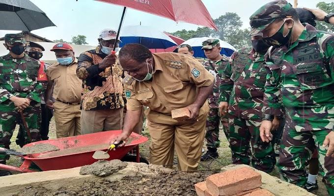 Proses Pembangunan di TMMD 110 Wilayah Kodam XVIII/Kasuari Telah Mencapai 74 Persen